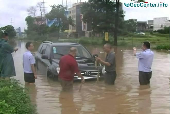 Наводнения в китайской провинции Фуцзянь, апрель 2017