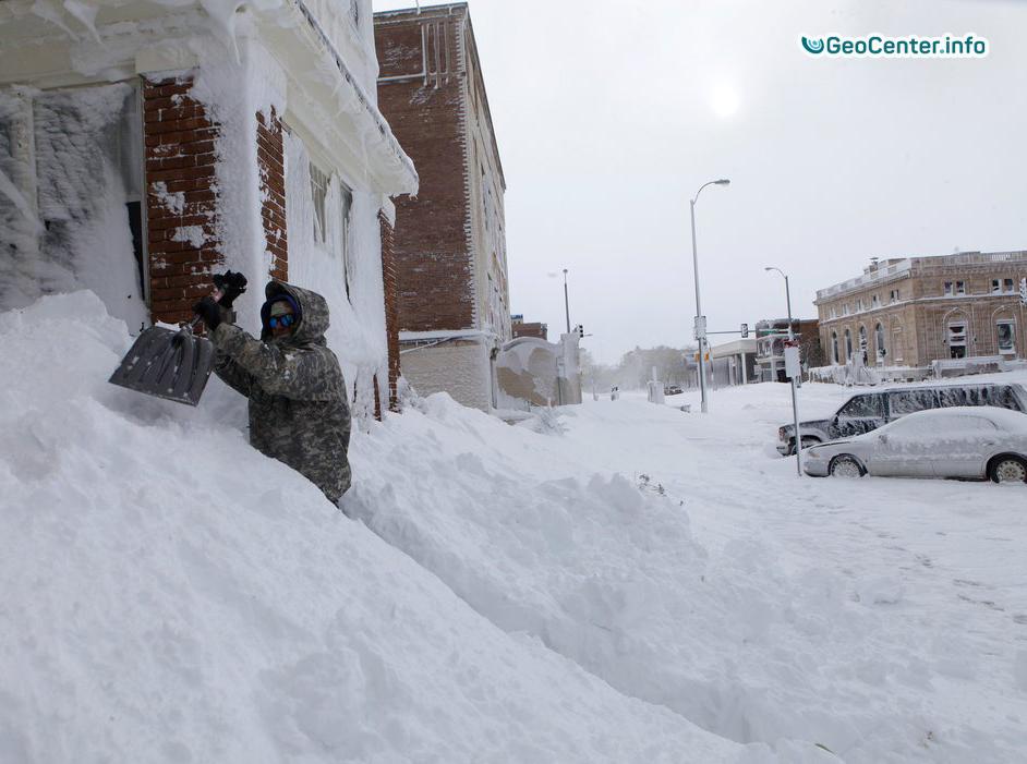 Снежный шторм Канада. Декабрь 2017