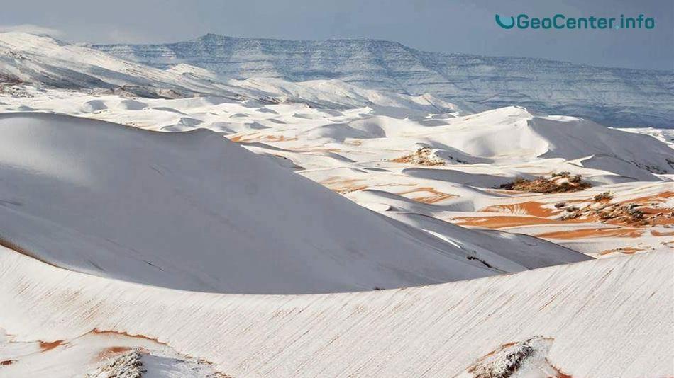 Сахара в снегу, январь 2018 г.
