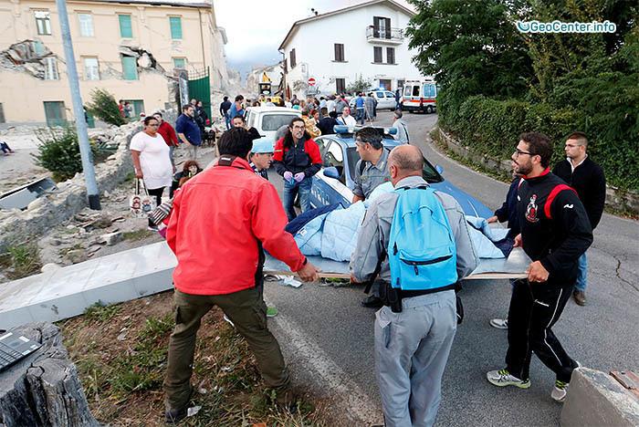 Разрушительные землетрясения в Италии 6,3 балла, август 2016