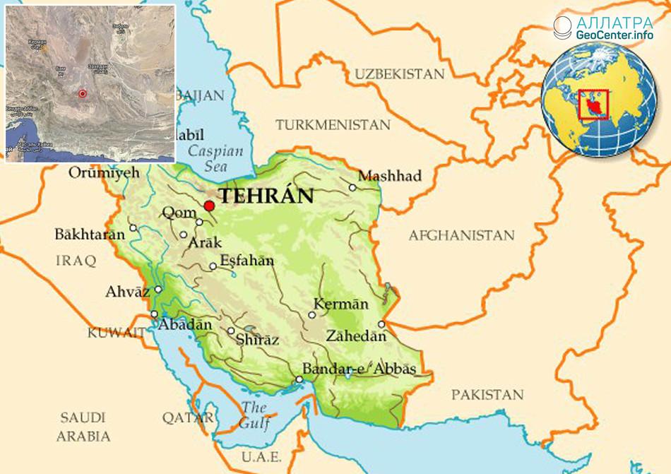 Крупное землетрясение в Иране, сентябрь 2018 г.