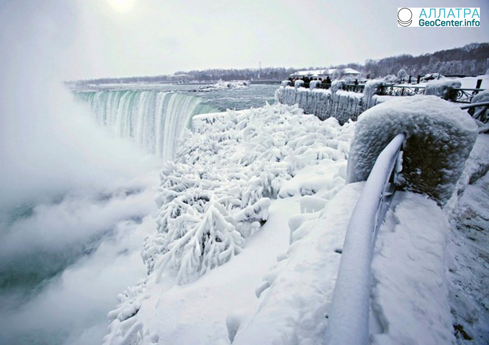 Ледяная красота Ниагарского водопада