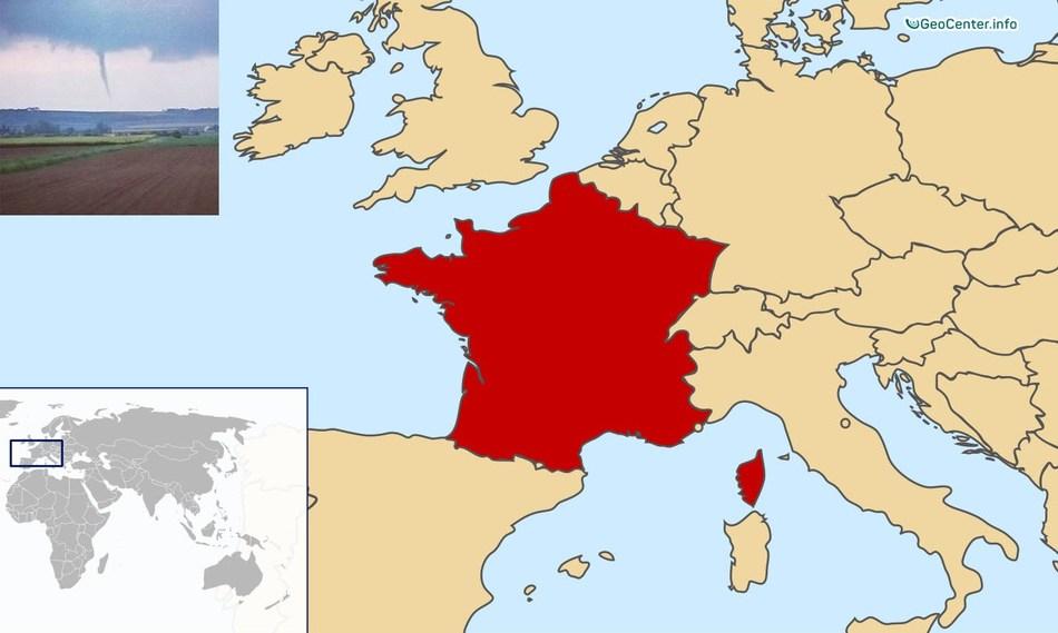 Несколько мини-торнадо во Франции