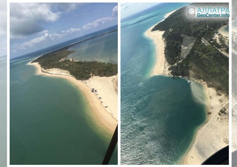 Часть пляжа в австралийском Квинсленде ушла под воду, сентябрь 2018 г.