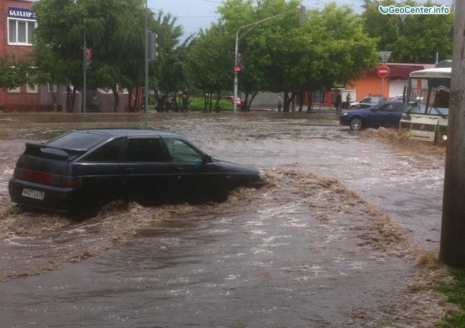 Проливные дожди в Уфе, Республика Башкортостан
