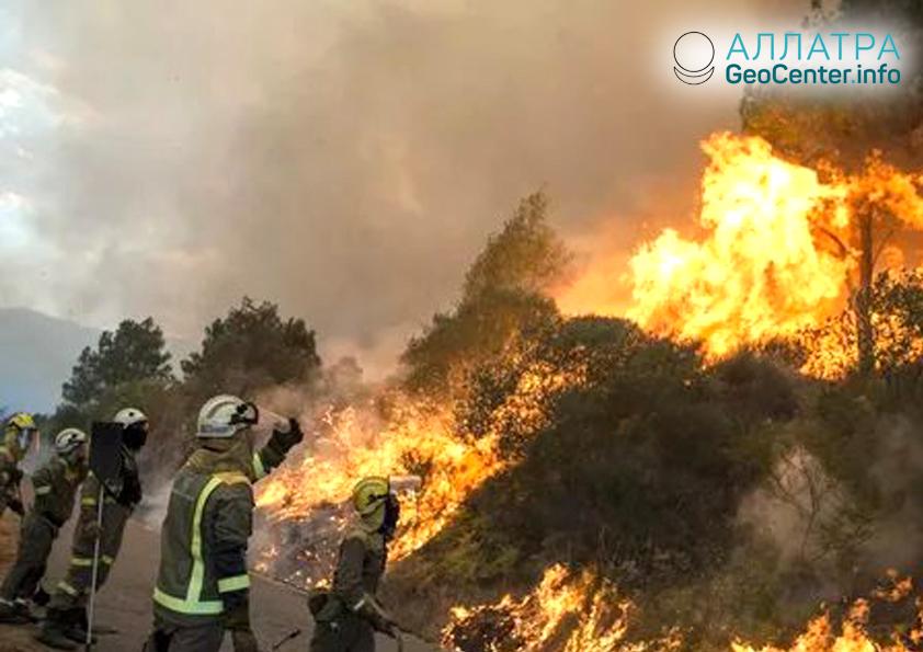 Пожары в Испании, август 2018 г.