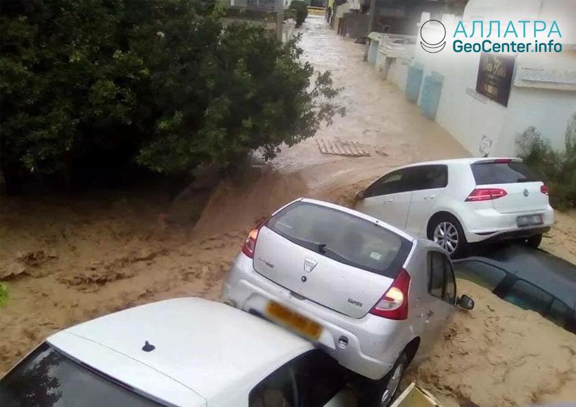Ливни в Тунисе, сентябрь 2018
