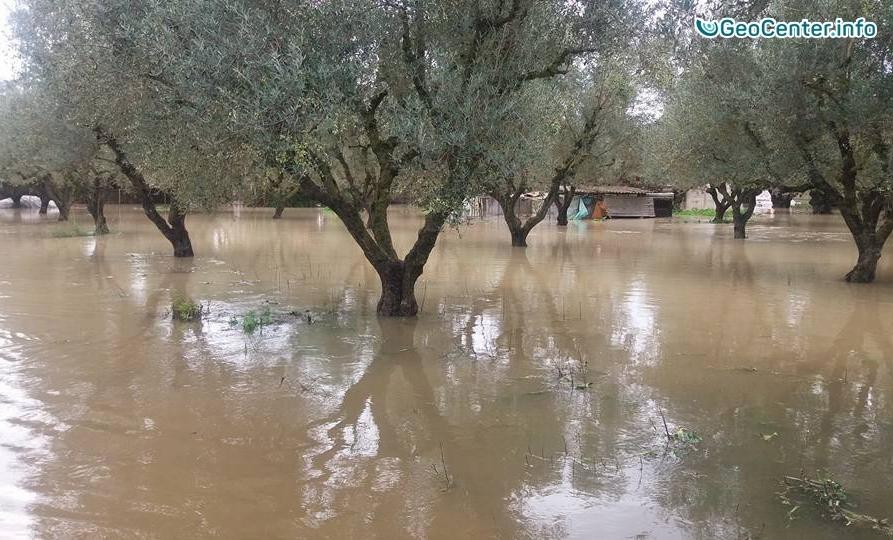 Ливни и наводнение в Афинах