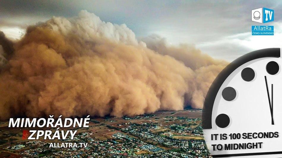 HODINY soudného dne: kolik zbývá do konce? Prachová bouře → Austrálie. Povodně → Madagaskar, Peru