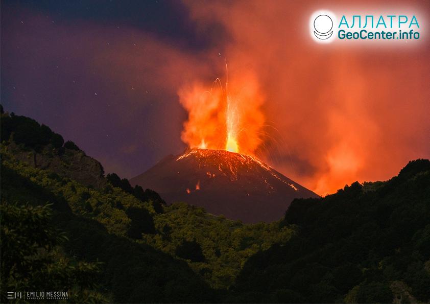 Что происходит на итальянском вулкане Этна?