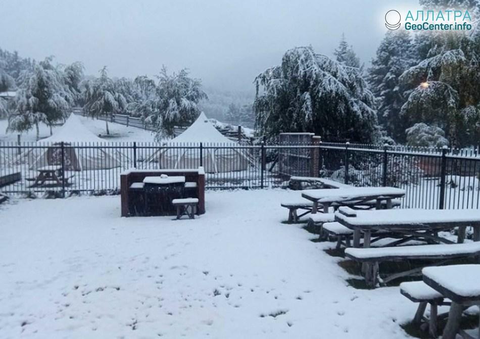 Апрельская зима в Новой Зеландии, апрель 2018 г.