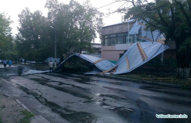 По Харьковщине пронеслась буря в августе 2016