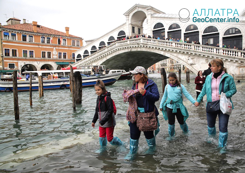 Наводнение в Венеции, октябрь 2018