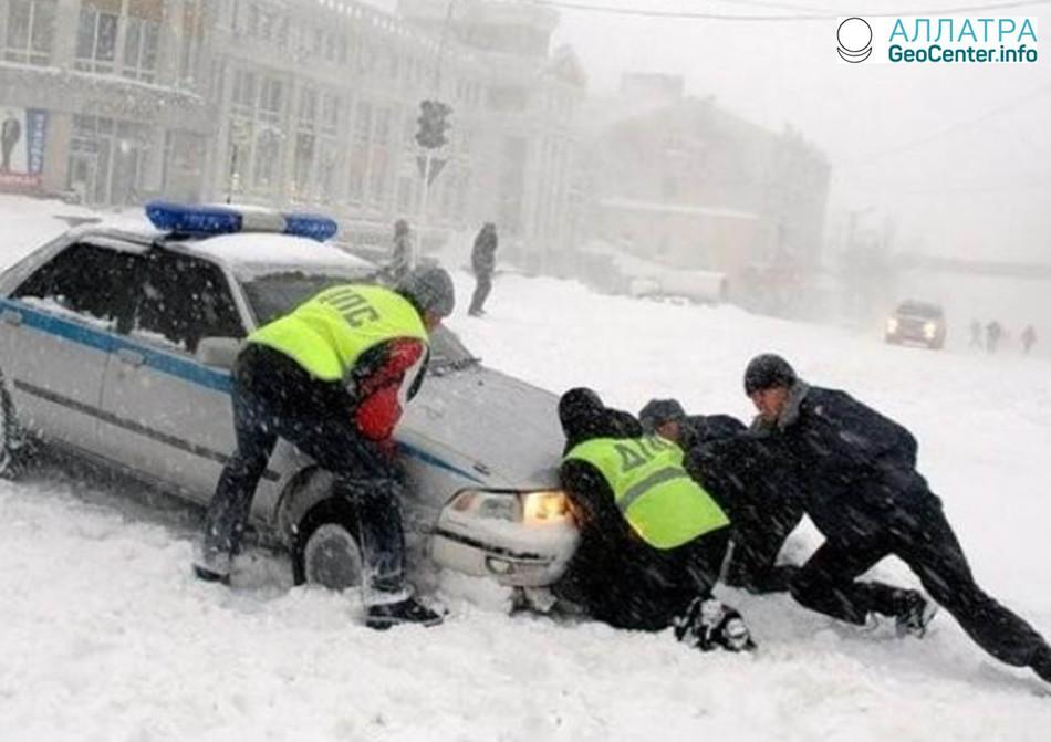 Сильные снегопады в Приморье, февраль 2018 г.