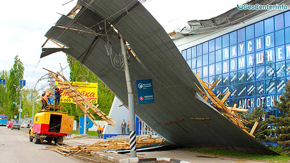 Ураган с грозой в Саратовской области, август 2016