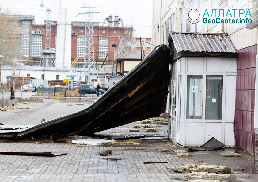 Шторм в Кемеровской и Томской областях (Россия) 29 октября 2018 г.