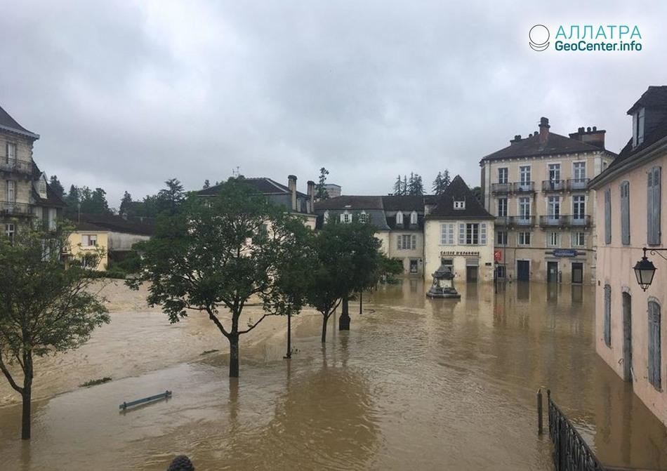 Паводок во французской Аквитании, июнь 2018 г.
