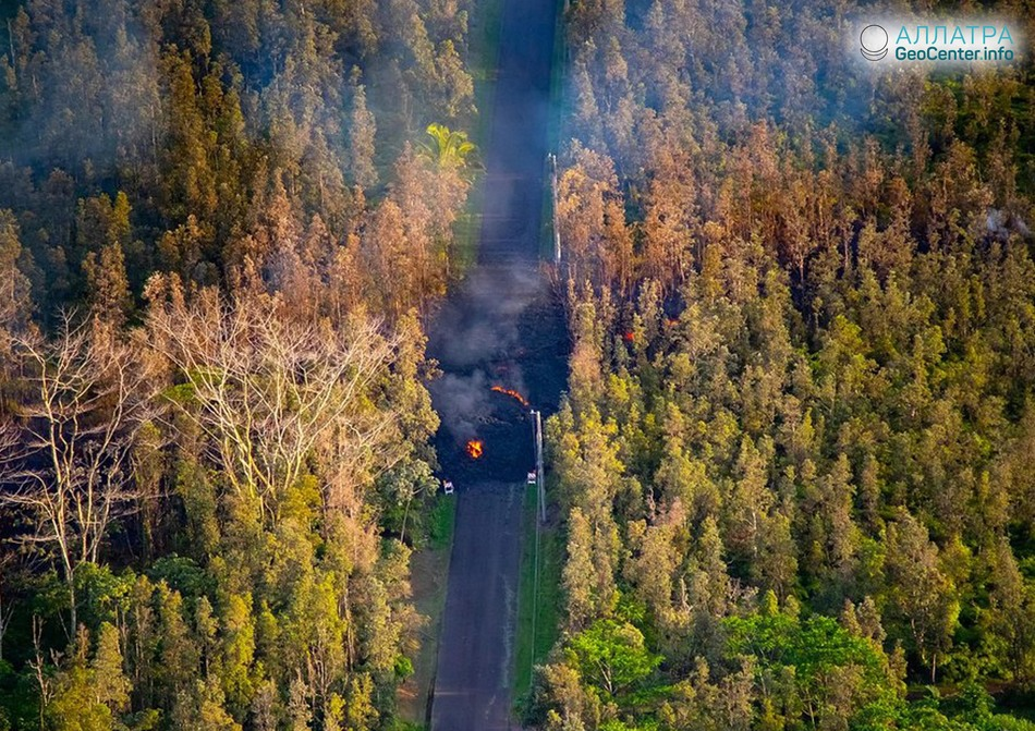 Извержение вулкана Килауэа на Гавайах (США), май 2018 г.