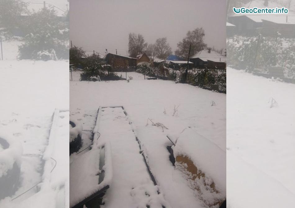 Первый снег в Красноярском крае, 24 сентября 2017 года