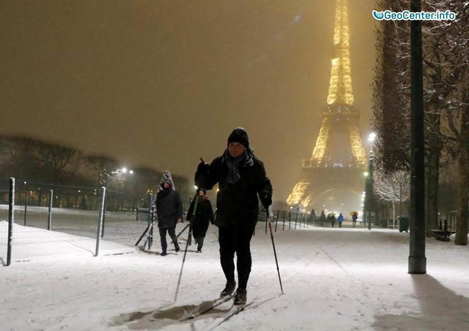 Парижская сказка: февральский снегопад 2018 г.