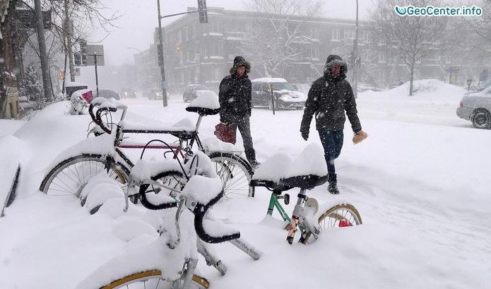 Снегопады в Канаде