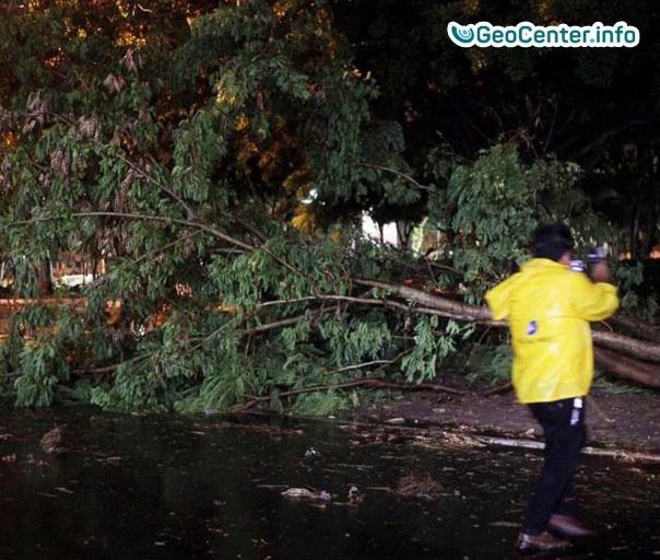 В Мексику пришел ураган Франклин, август 2017 года