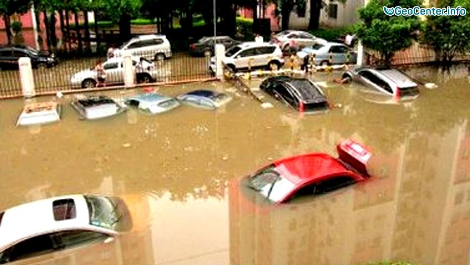 Наводнение в США затопило Мериленд 31 июля 2016
