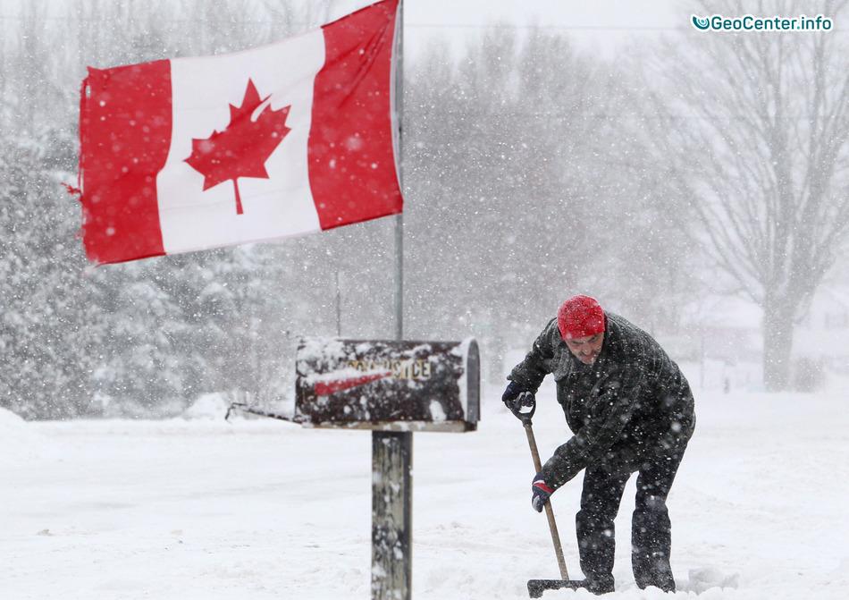 Снегопады в Канаде: закрыты школы, массово отключено электричество, декабрь 2017 года