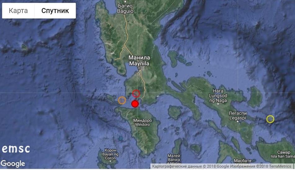 Крупное землетрясение на Филиппинах 31 августа 2018 г.