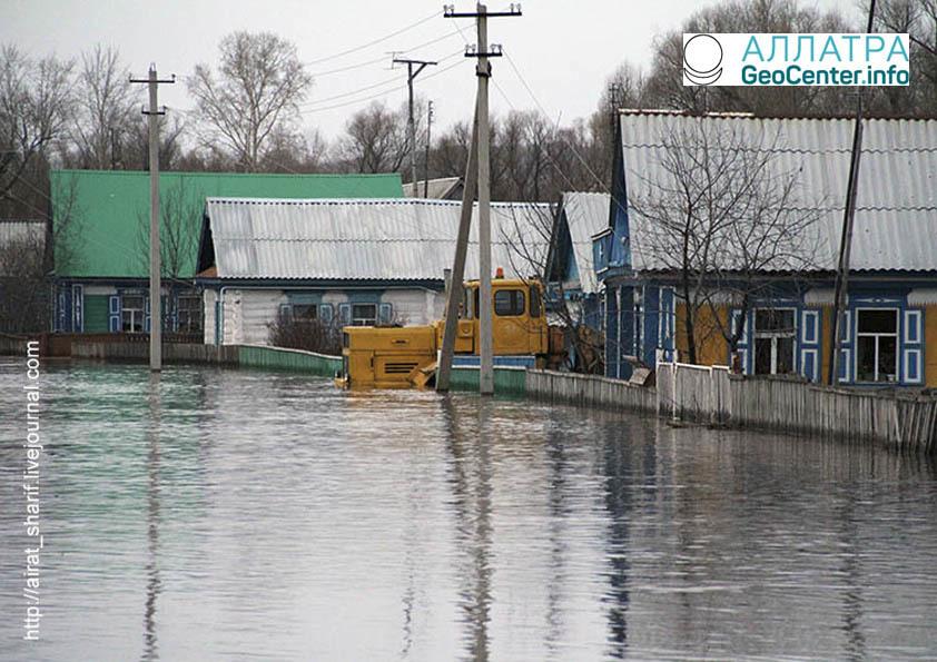 Паводок в Башкирии, апрель 2018