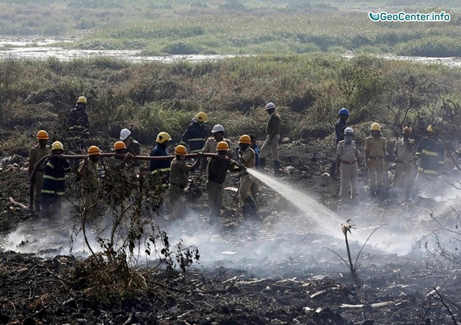 Почему горит озеро Белландер в центре Южной Индии?