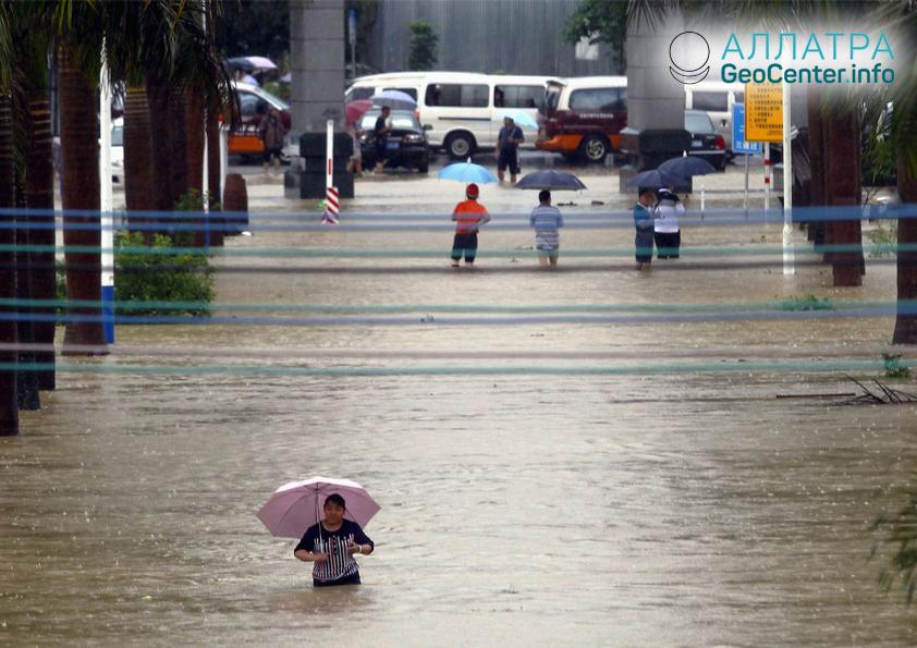 Проливные дожди в Китае, июль 2018 г.