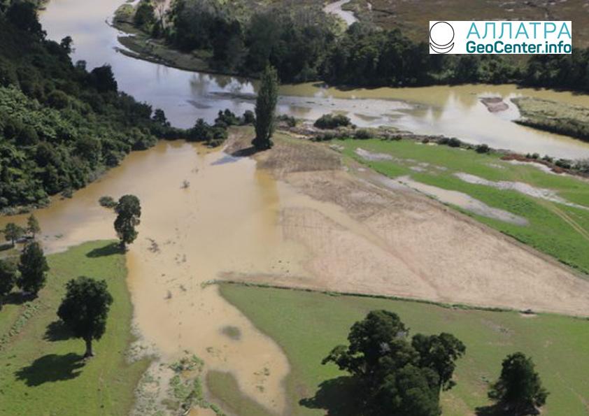 В Новой Зеландии продолжаются сильные дожди, февраль 2018