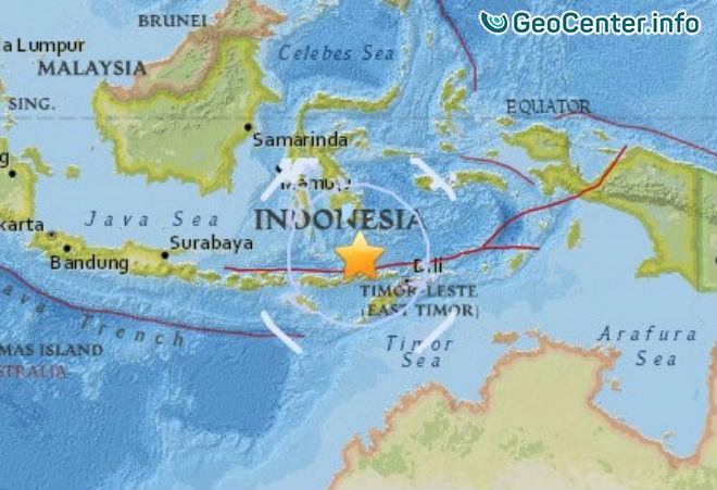 Землетрясение магнитудой 6,7 у берегов Индонезии, 24 октября 2017