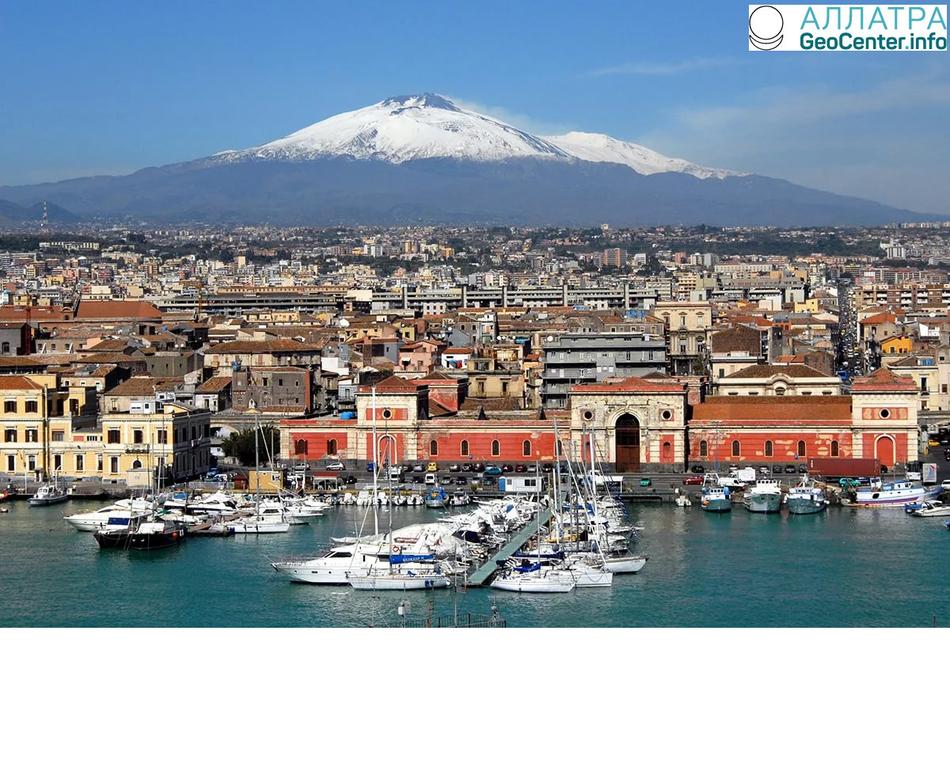 Вулкан Этна медленно сползает в море, Италия, март 2018 года