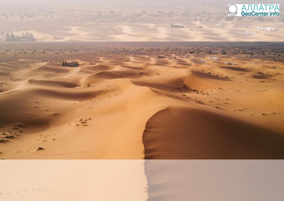 Рост площади самой большой пустыни в мире, апрель 2018 г.