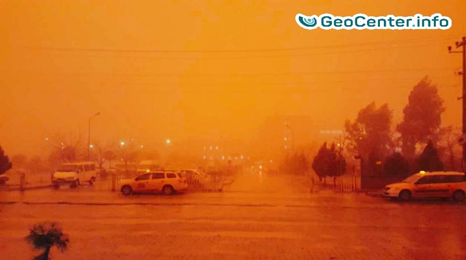 Пыльная буря в Турции, январь 2018 г.