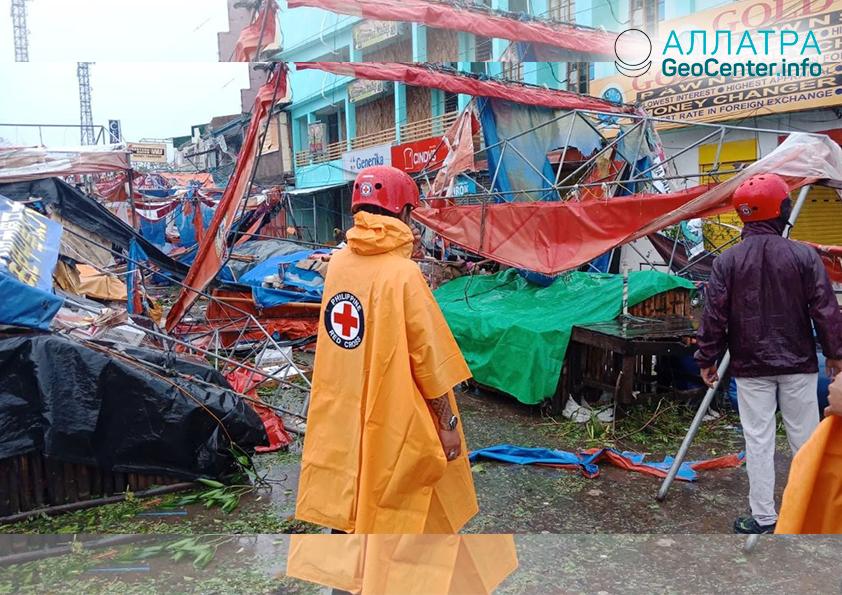 """Тайфун """"Юту"""" обрушился на Филиппины, 30 октября 2018 г."""