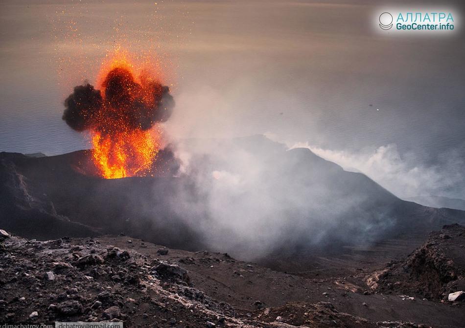 Новости о вулкане Стромболи в Италии, апрель 2018