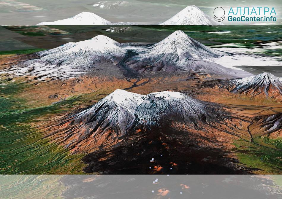 Взрывное извержение на вулкане Безымянный на Камчатке, 16 марта 2019