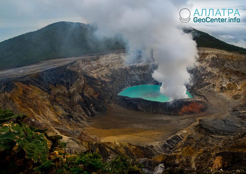 Erupcia sopky v Kostarike, február 2019