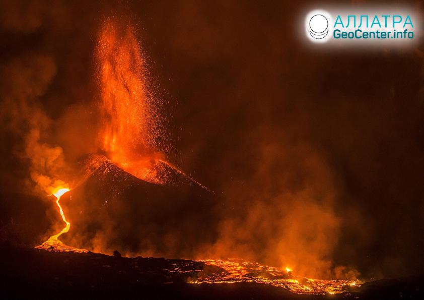 Извержение вулканов в конце сентября 2021