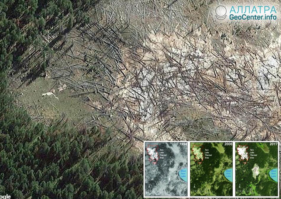 Yellowstone: report observatoře za březen 2019. Nové termální pole