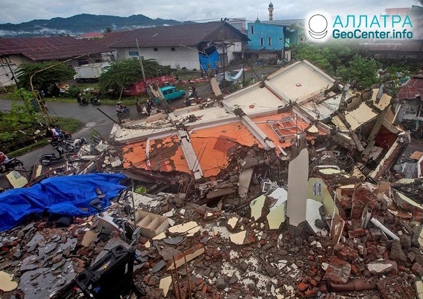 Катастрофические землетрясения в Индонезии, январь 2021