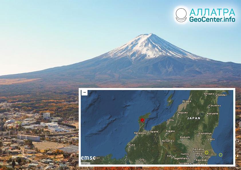 Крупное землетрясение в Японии, март 2020
