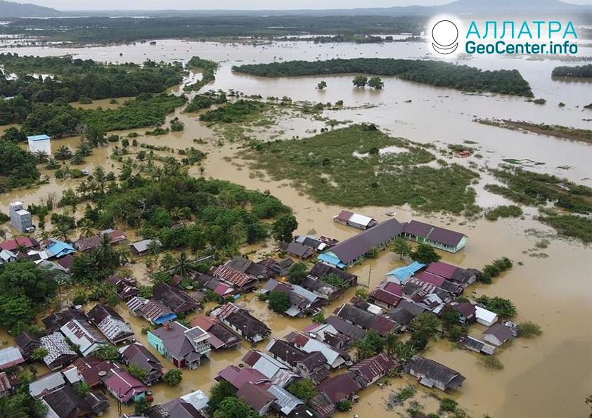 Крупные наводнения в середине января 2021
