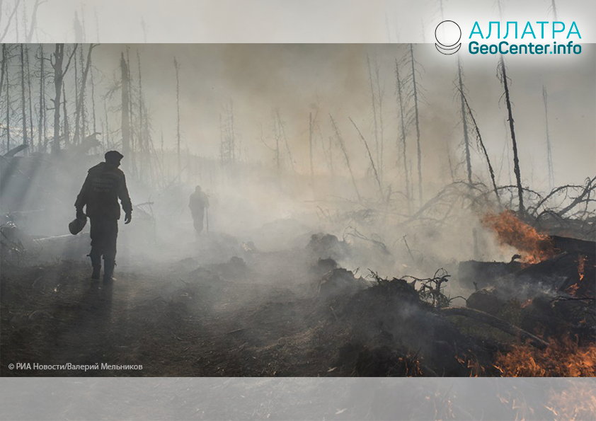 Velký přírodní požár v Rusku, duben 2019