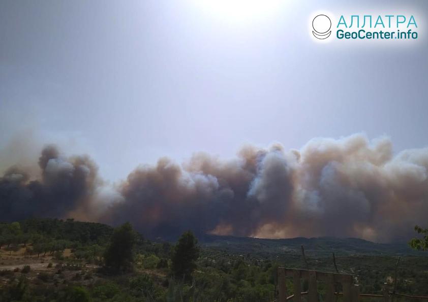 Лесной пожар в Испании, июнь 2019