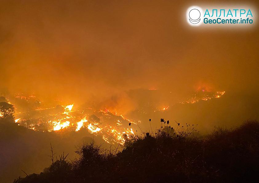 Lesné požiare, začiatok septembra 2021