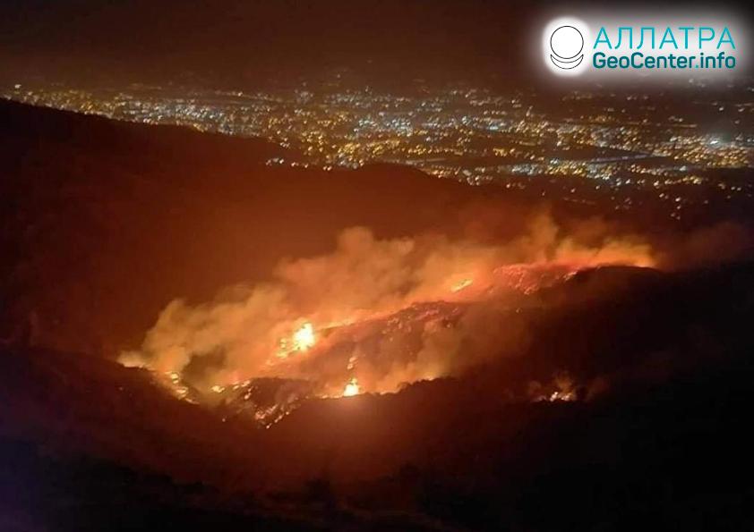 Лесные пожары, ноябрь 2020